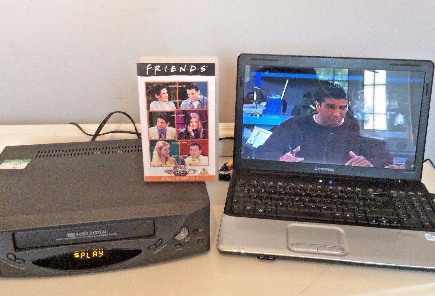 Kit Reproductor Grabador De Video Vhs Convertir Copia Cinta Vhs
