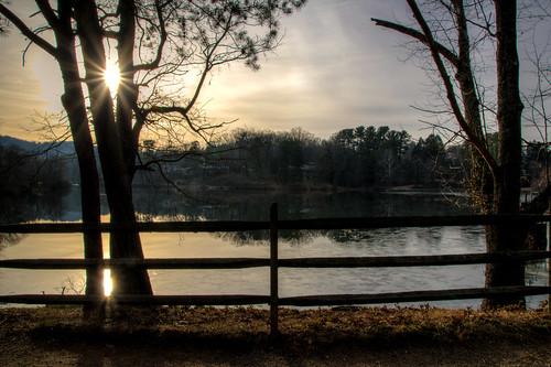sunrise sun landscape water reflection beaver lake beaverlake ashevillenorthcarolina ashevillenc northcarolina nc asheville nature morning