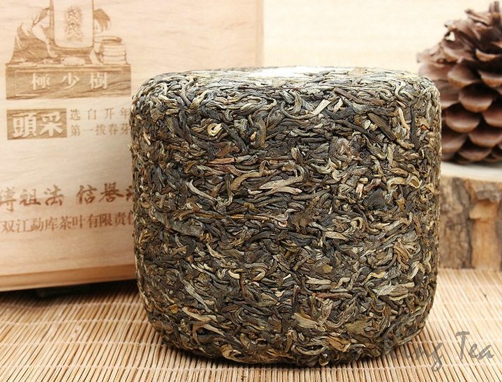 2014 ShuangJiang MengKu 1st Picked  High  Level Wooden Boxed 600g   YunNan  Puerh Raw Tea Sheng Cha
