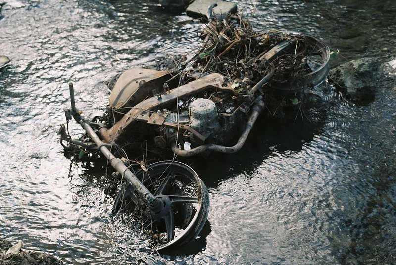 Drowned bike