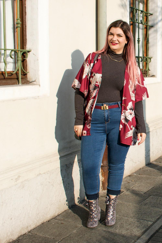 Outfit plus size, kimono Come le ciliegie  (8)