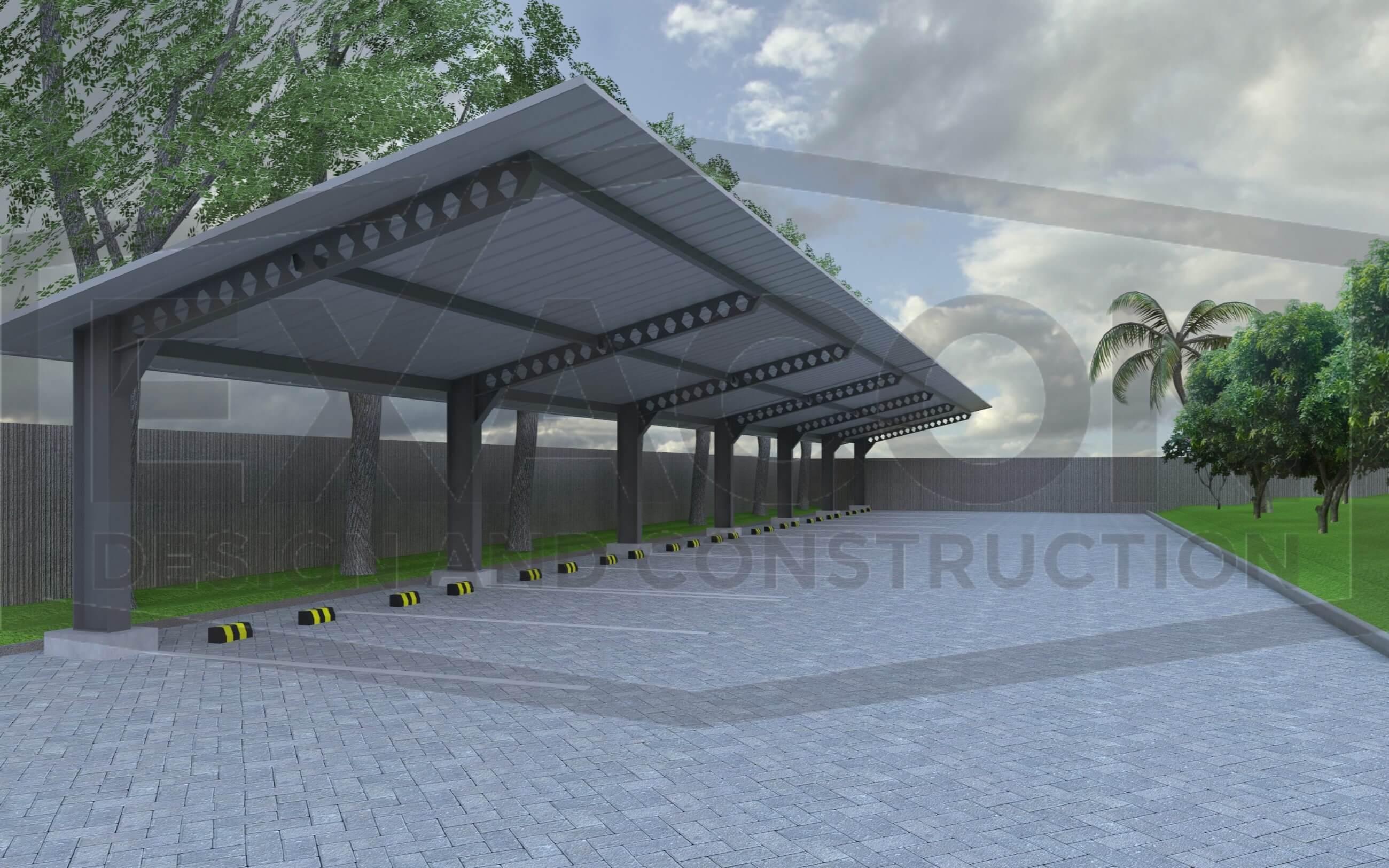 Proyek Desain Carport Bapak Tri Jakarta Selatan