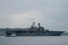 USS Bonhomme Richard (LHD 6) departs Fleet Activities Sasebo, Jan. 23. (U.S. Navy/ MC2 Alana Langdon)