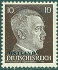 Známka Nemecká ríša Ostland 1941 Adolf Hitler, nerazítkovaná