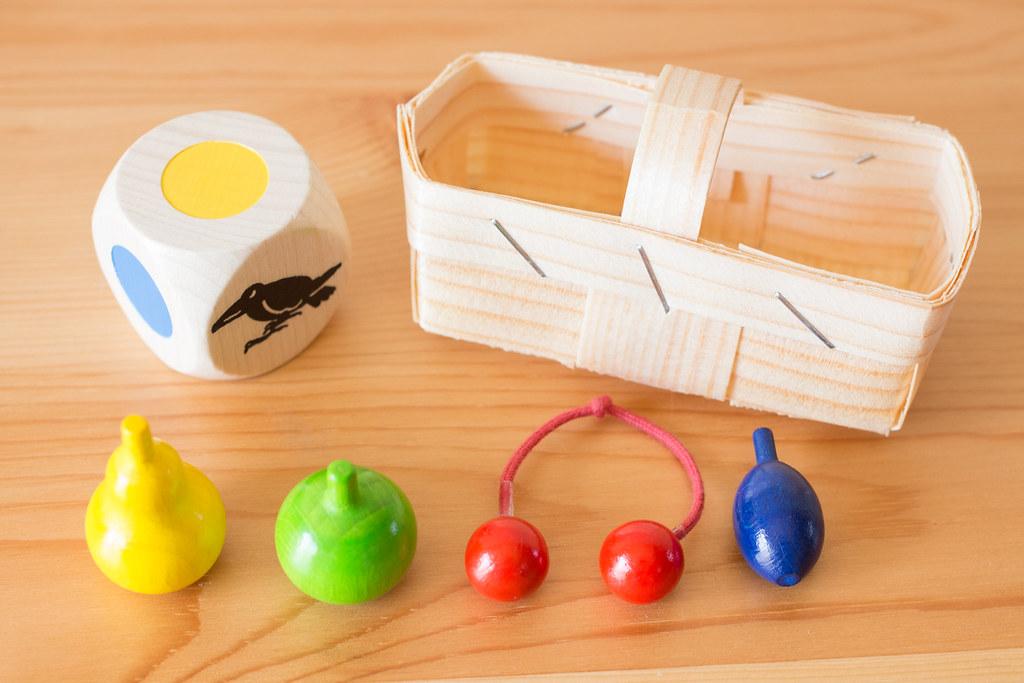 果樹園ゲーム 木製のコンポーネント