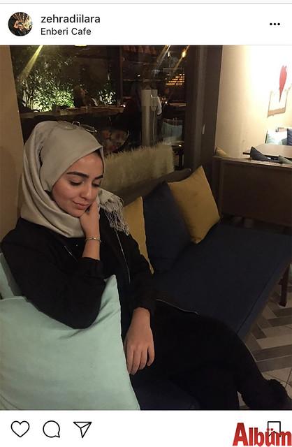 Zehra Dilara Boz, Enberi Kafe'den yaptığı bu paylaşımla takipçilerinin beğenisini topladı.