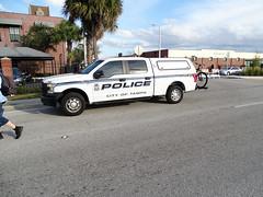 Tampa Bay 5160 Police Van For Sant' Yago Knight Parade In Historical YBOR City
