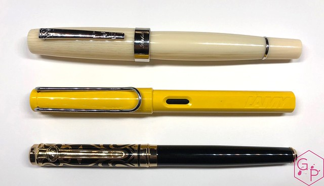 Review Laban Kaiser Antique Ivory & Silver Fountain Pen @GoldspotPens 3