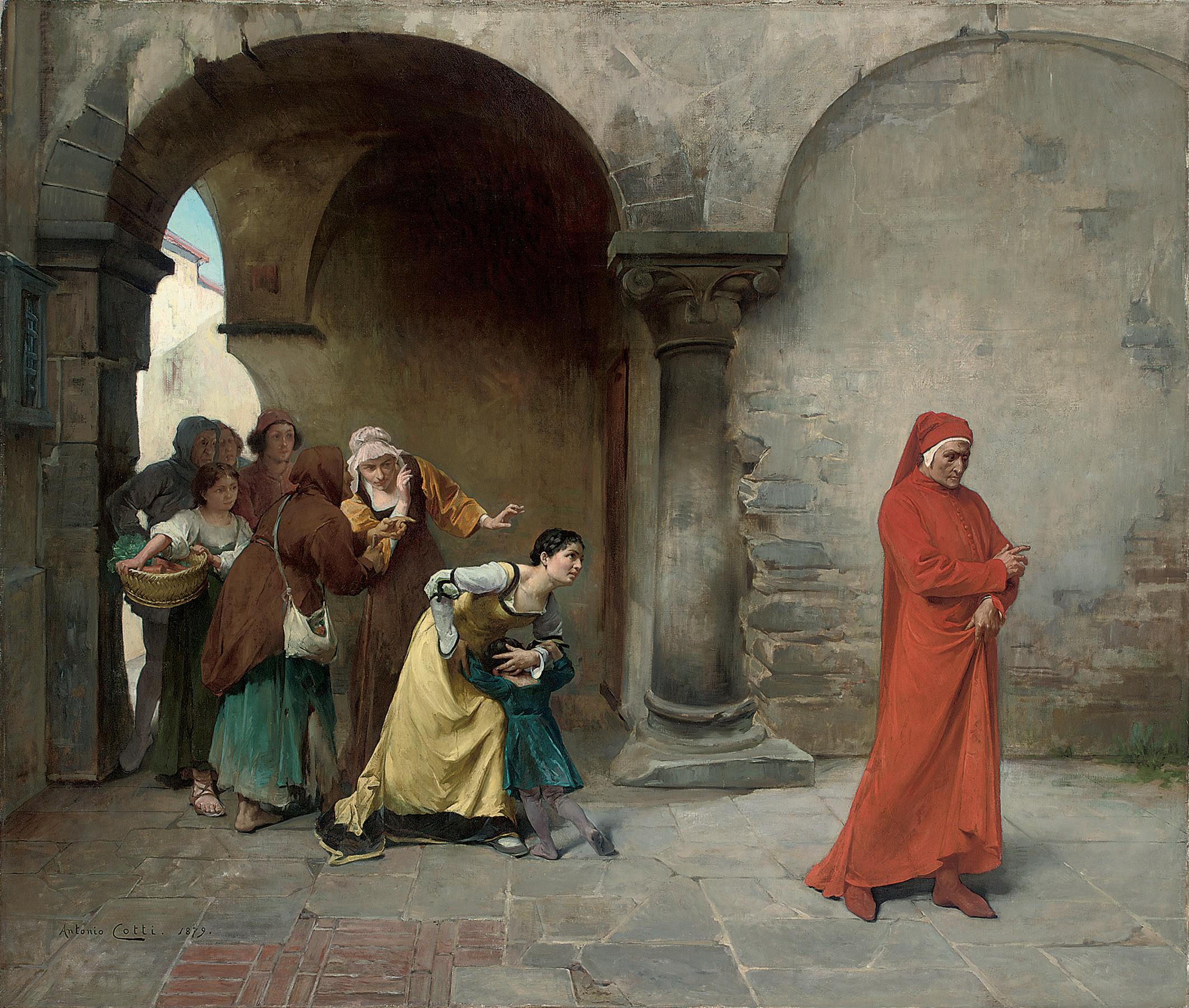Dante in Verona, by Antonio Cotti.