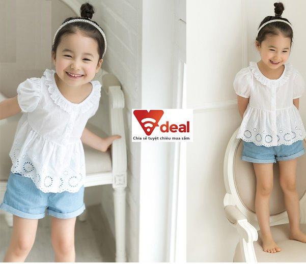 Thời trang cho bé với đầm được làm bằng chất vải thô