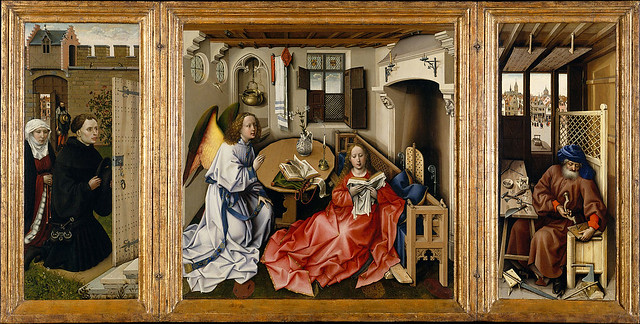 Robert Campin - Triptych with the Annunciation -