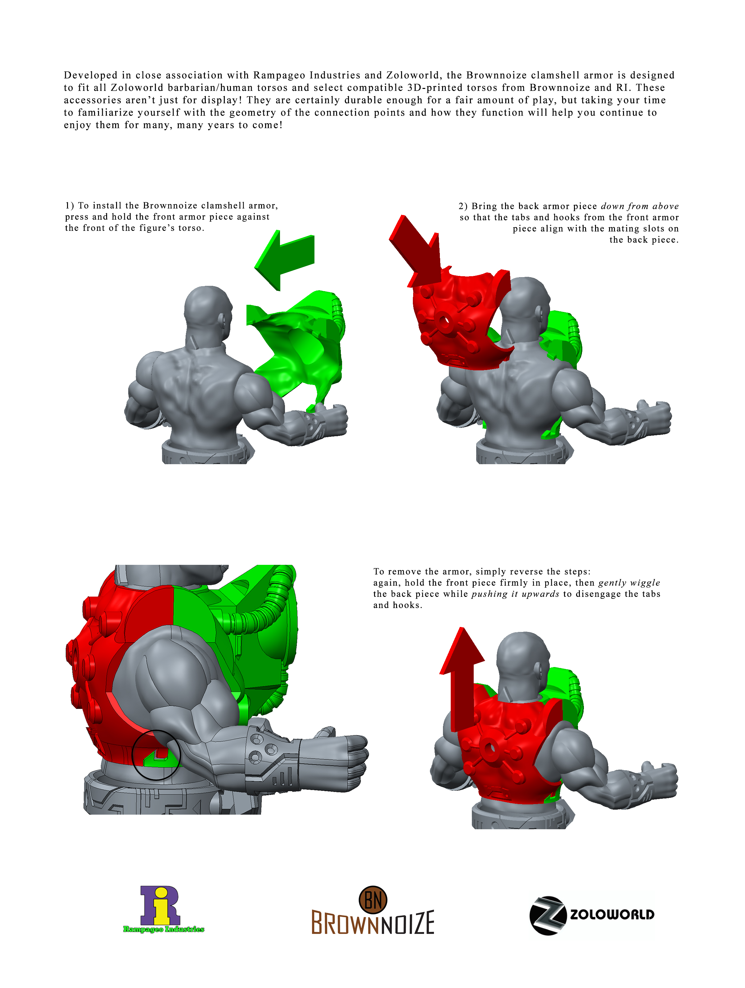 clamshell armor instructions