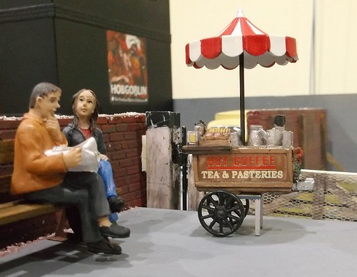 Tea and pasteries stand