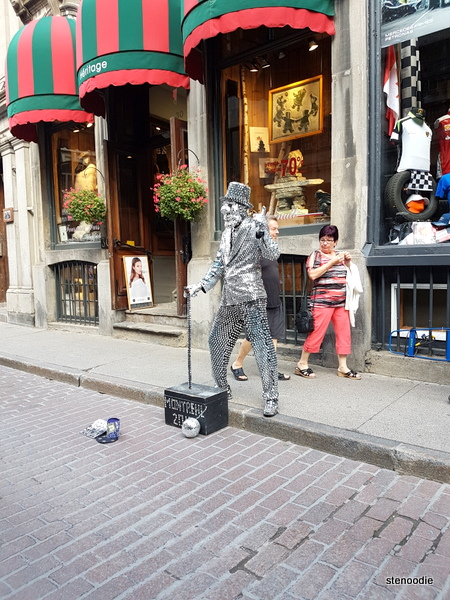 Old Montreal street performer