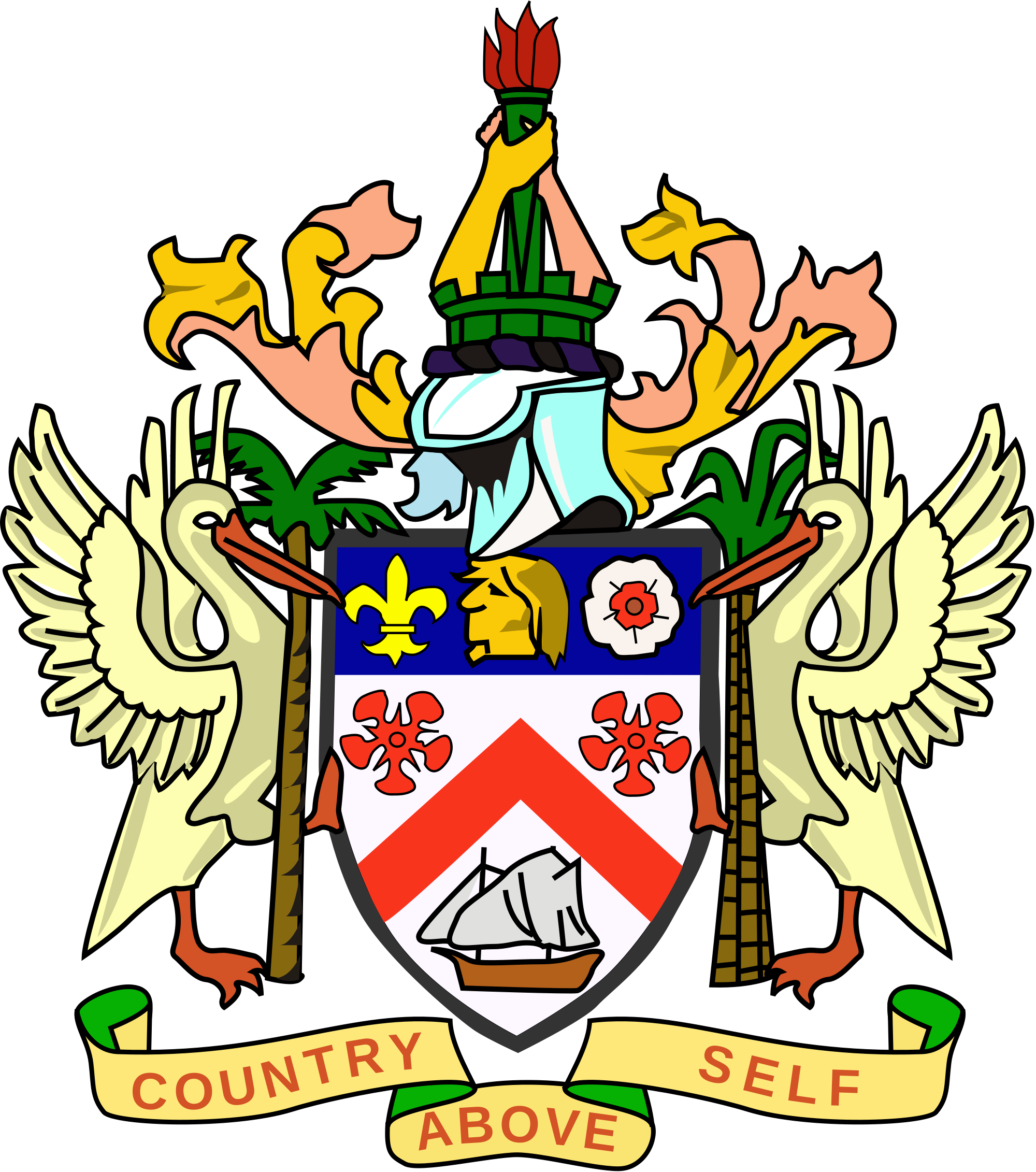 St. Kitts-Nevis coat of arms