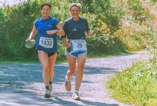 Monschau-Marathon Claudia und Gisela
