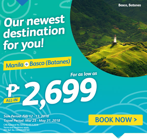 Cebu Pacific Manila to Basco Batanes Promo