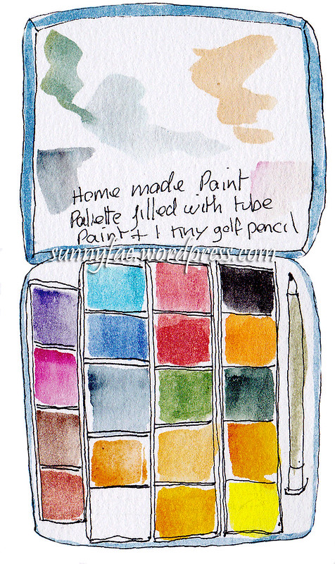 homemade paint palette