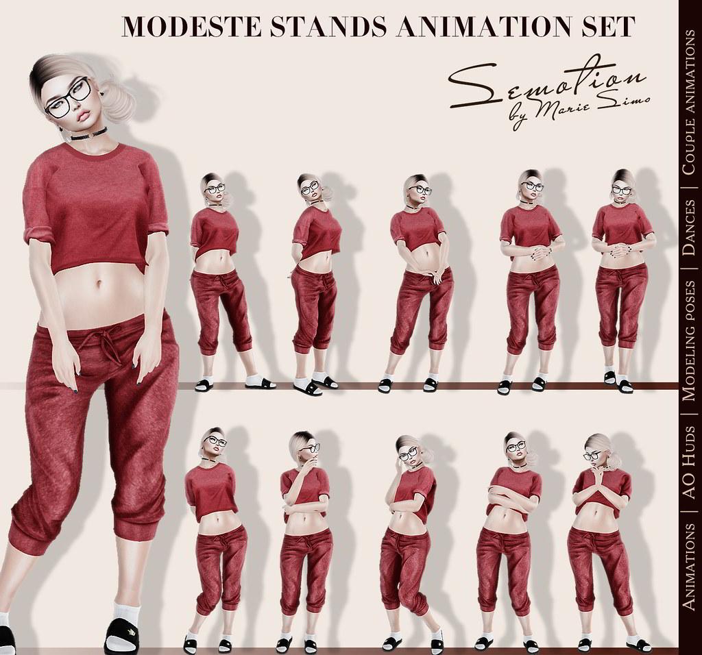 SEmotion Modeste Set - 10 mocap standing animations - TeleportHub.com Live!