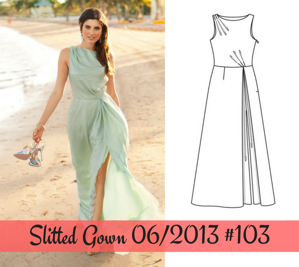 Slitted Gown