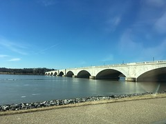 Arches of Memorial Bridge, Potomac River at Washington, D.C.
