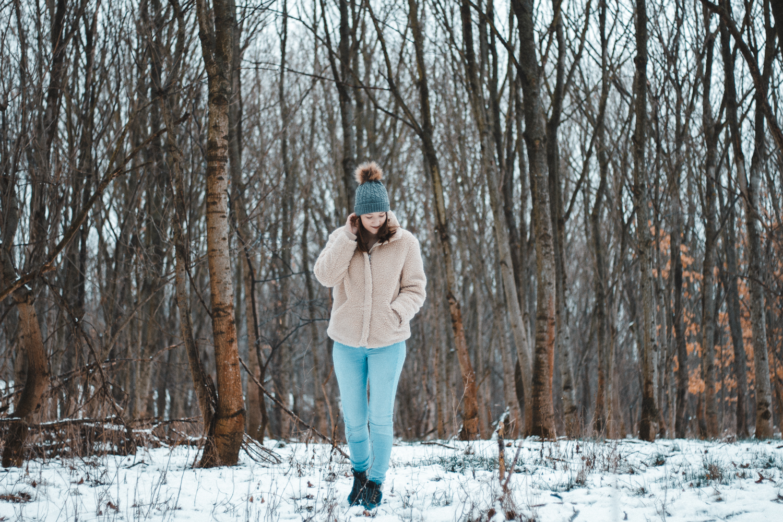winter walk photoshoot
