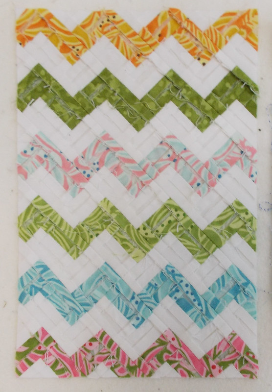 Ultra Mini Zigzag quilt back by Sandi Walton at Piecemeal Quilts