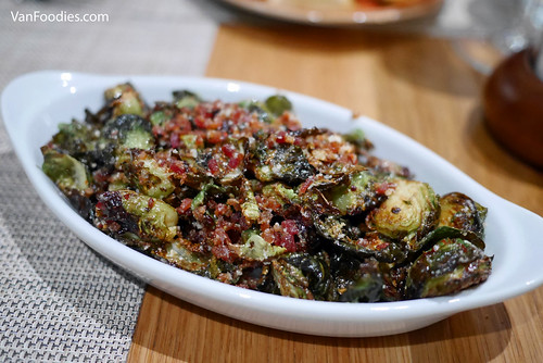 Crisped Bacon Brussels Sprouts