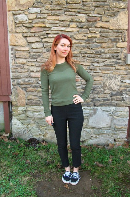 Sewaholic Fraser Sweatshirt made with stretch fleece from Mood Fabrics