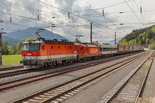 ÖBB1144 215 en 1216 020 055 Freistritz (Tauernbahn)