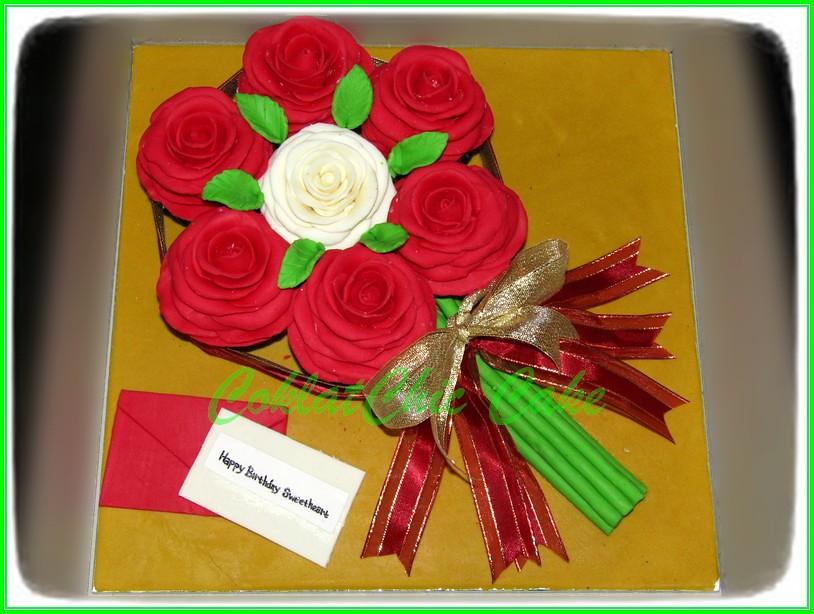 Cupcake set bentuk karangan Bunga