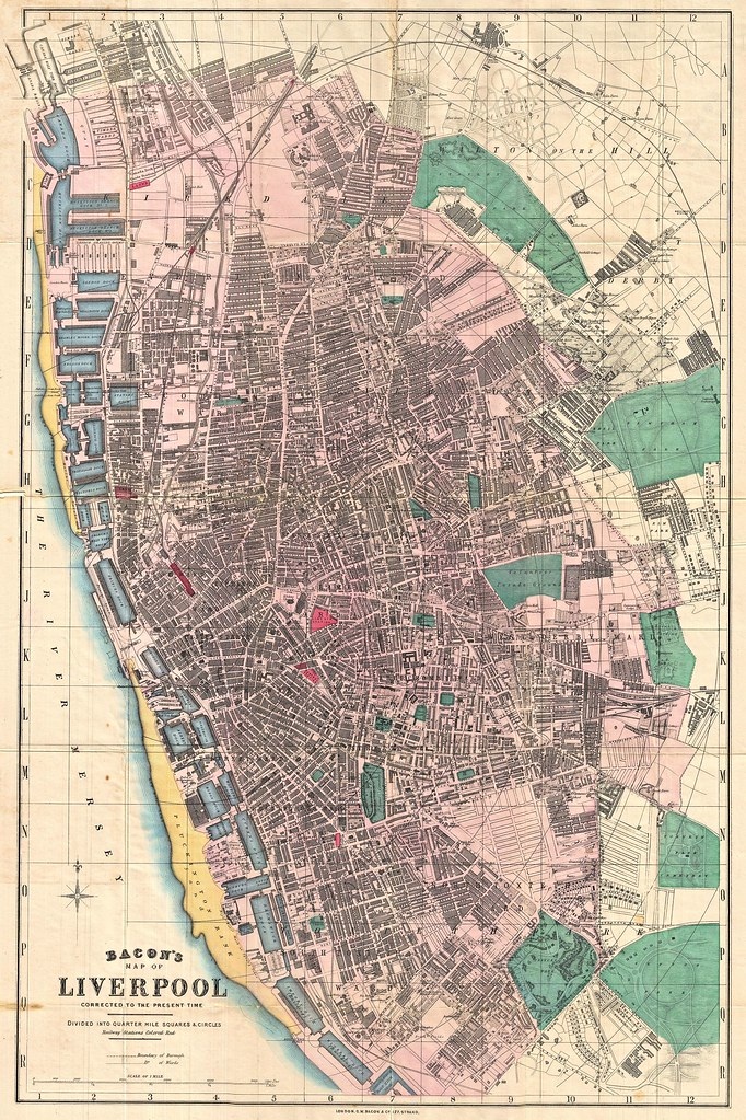 George Washington Bacon - Bacon's Map of Liverpool Corrected to the Present Time. (c.1890)