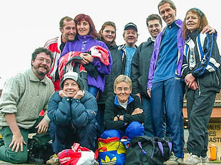 Arolsen-Gruppe nach dem Lauf vor der Twistesee-Halle