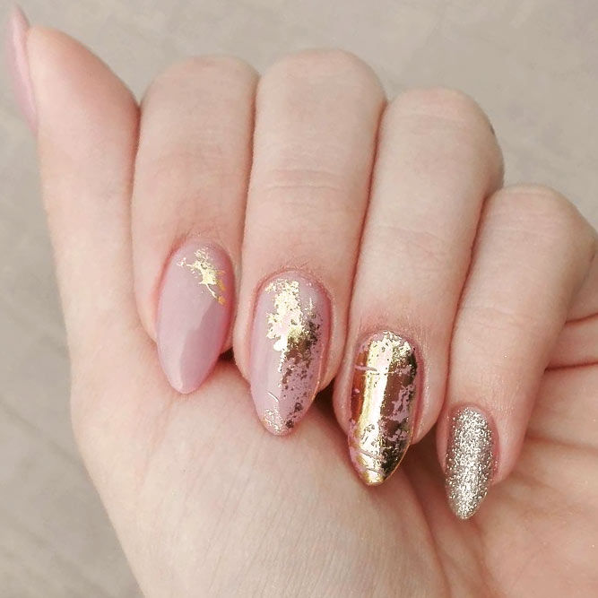 Ideas For Gorgeous Nails With Gold Foil Designs 2018 Fashionre