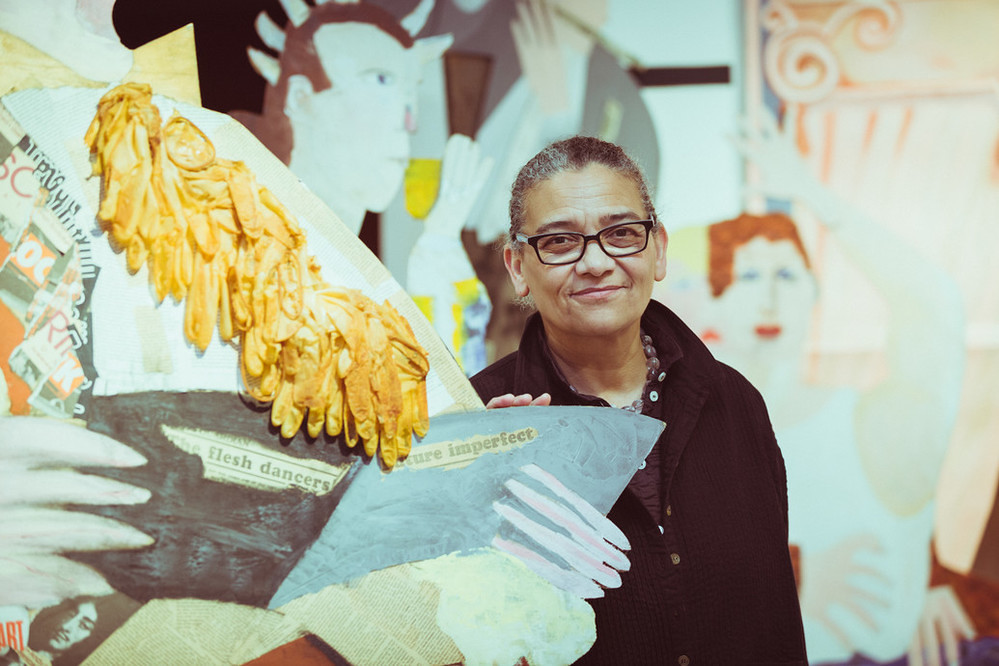 Turner Prize 2017 ceremony – Lubaina Himid with A Fashionable Marriage. Photo © Chris Pepper.