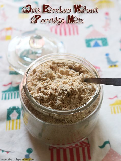 Oats Broken Wheat Porridge Mix Recipe Instant Broken