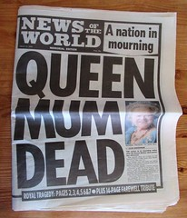 News of the World Memorial Edition March 31st 2002 A Nation in Mourning Queen Mum