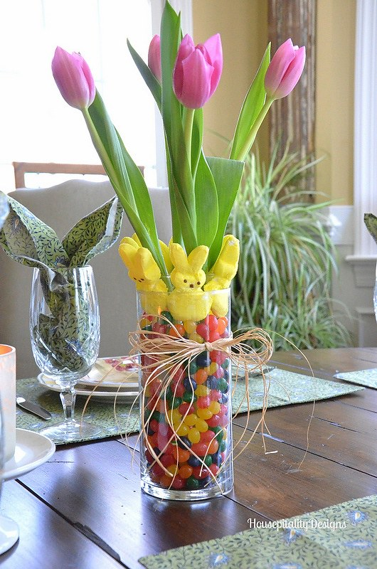 Peeps and Jelly Bean Arrangement-Housepitality Designs