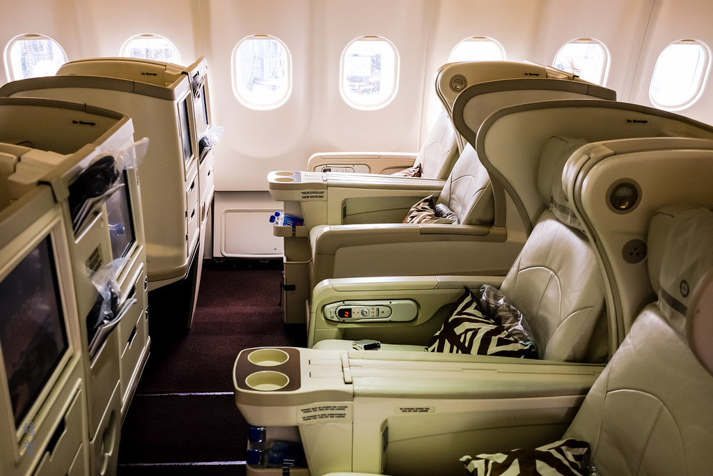 Angle-flat seats in Business Class
