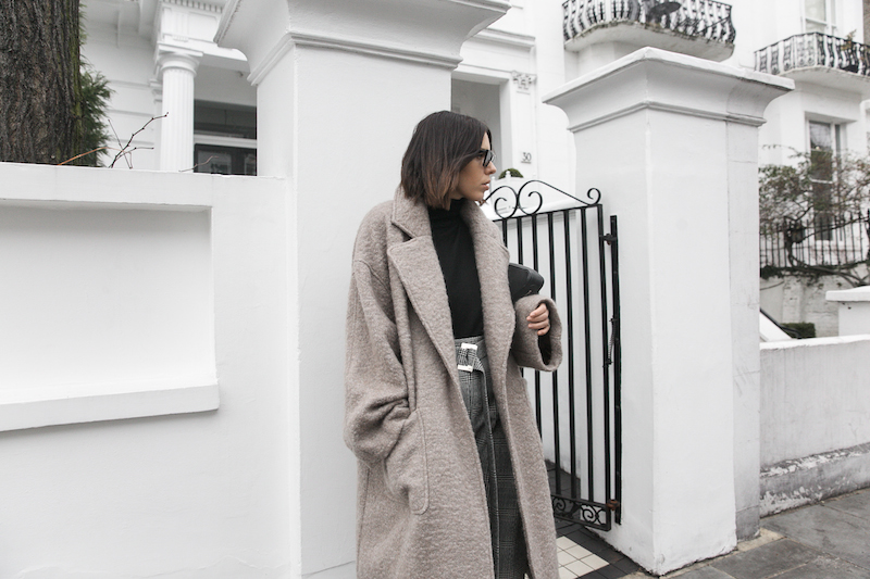 minimal street style winter london white ankle boots balenciaga triangle bag senso raey coat ellery pant turtleneck fashion blogger Instagram (7 of 12)