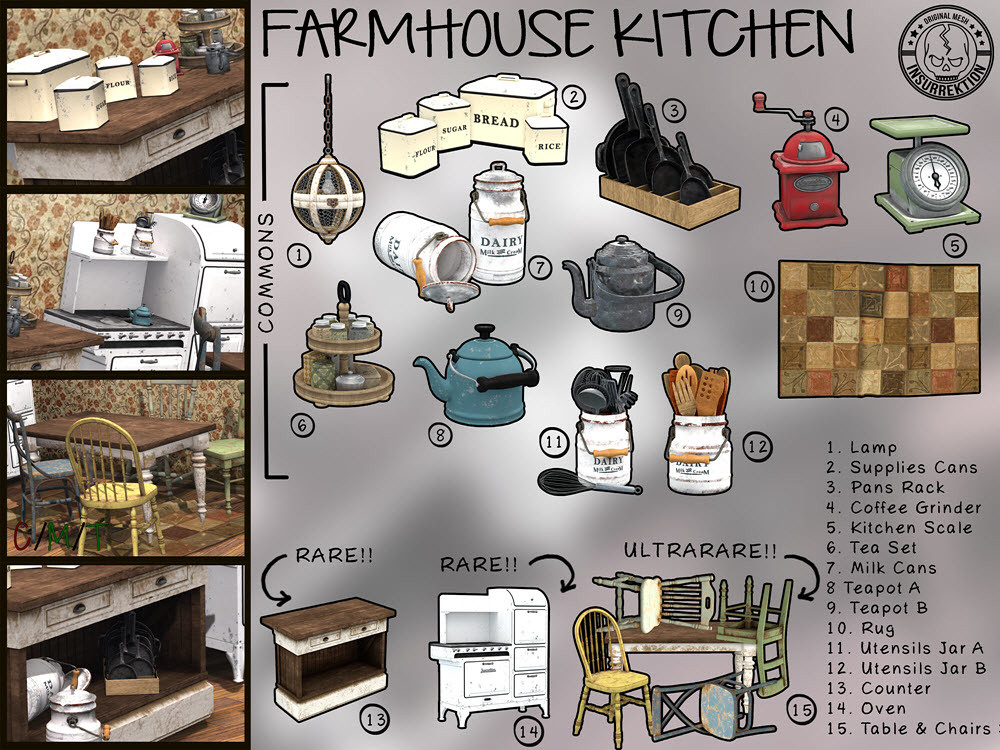 [IK] Farmhouse Kitchen Gacha – Key