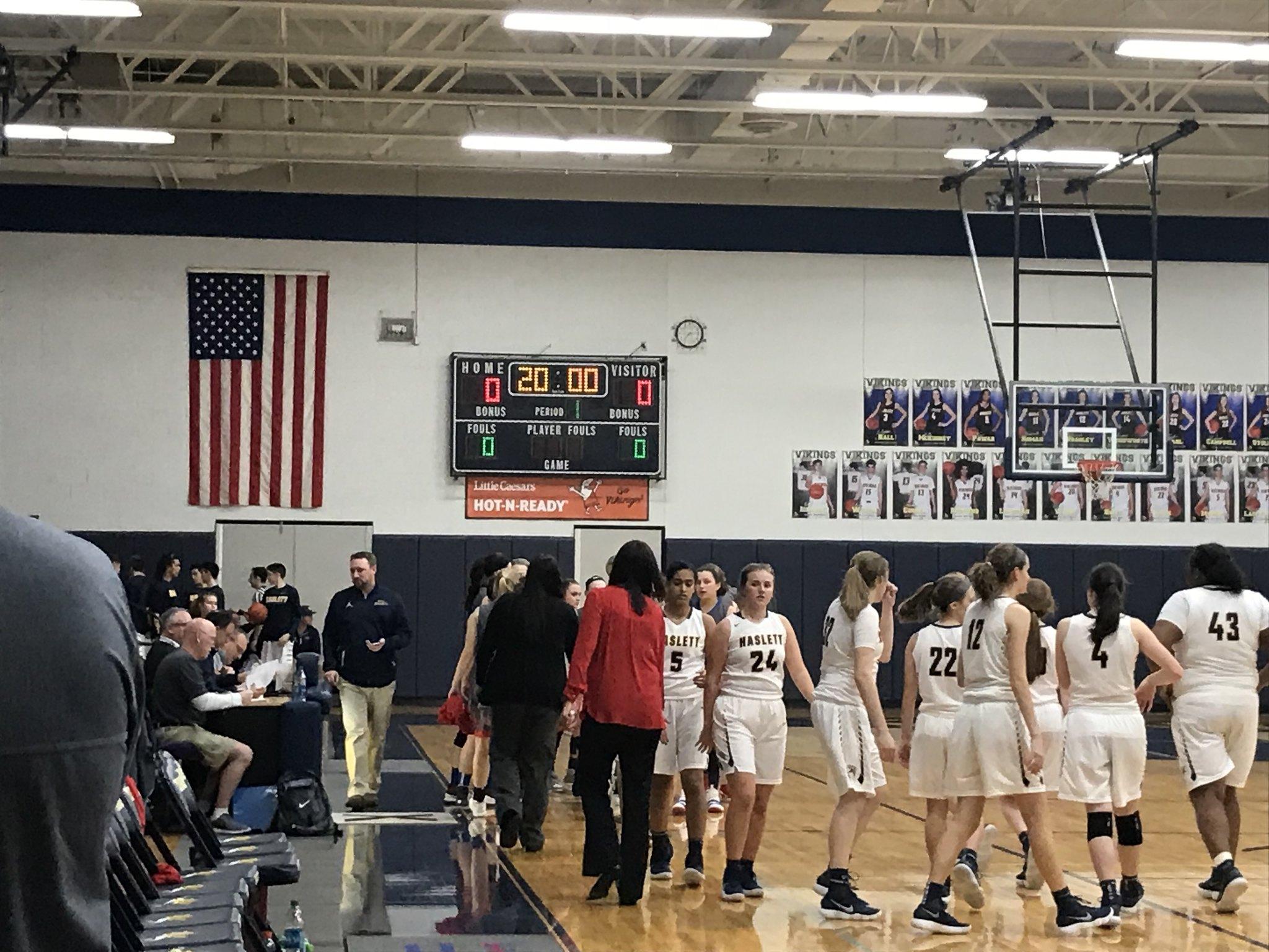 Haslett Girls Basketball Team Defeats Mason