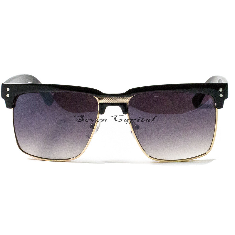db2cfad7b962d Mens Womens Clubmaster Square Shades Gold Frame Retro Vintage Summer  Sunglasses. Brand New