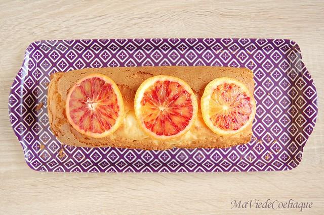 Cake à l'orange sanguine sans gluten