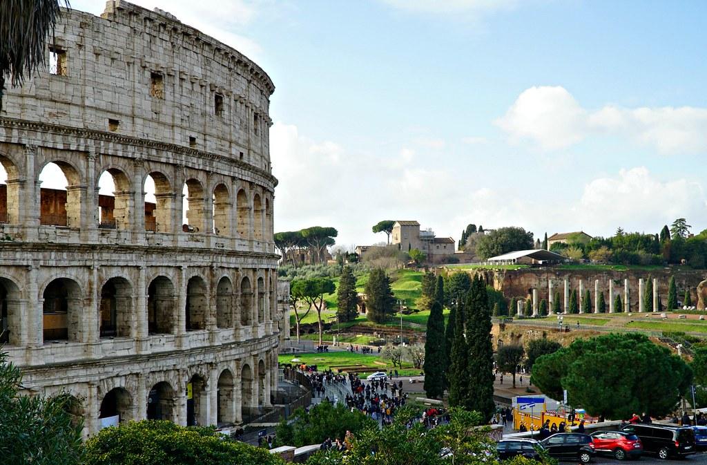 Colosseum ylhäältäpäin