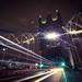 Light trails at Tower bridge