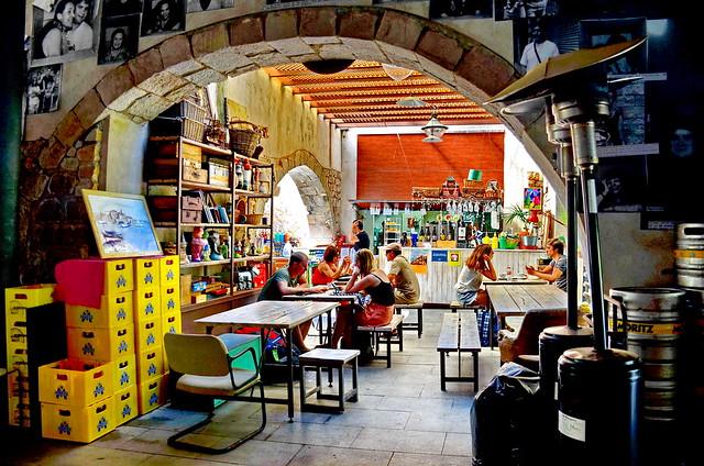 Scene pub in old Barcelona