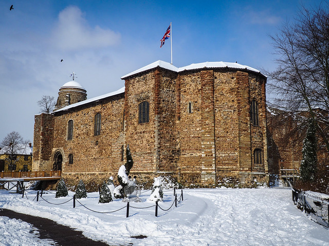 Colchester Castle in the Snow