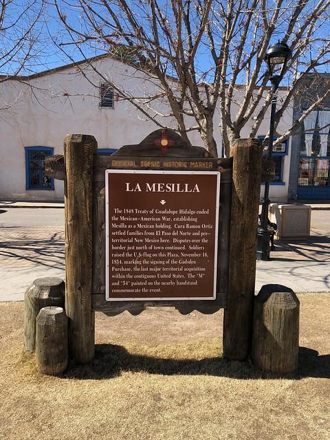 Las Cruces - La Mesilla sign