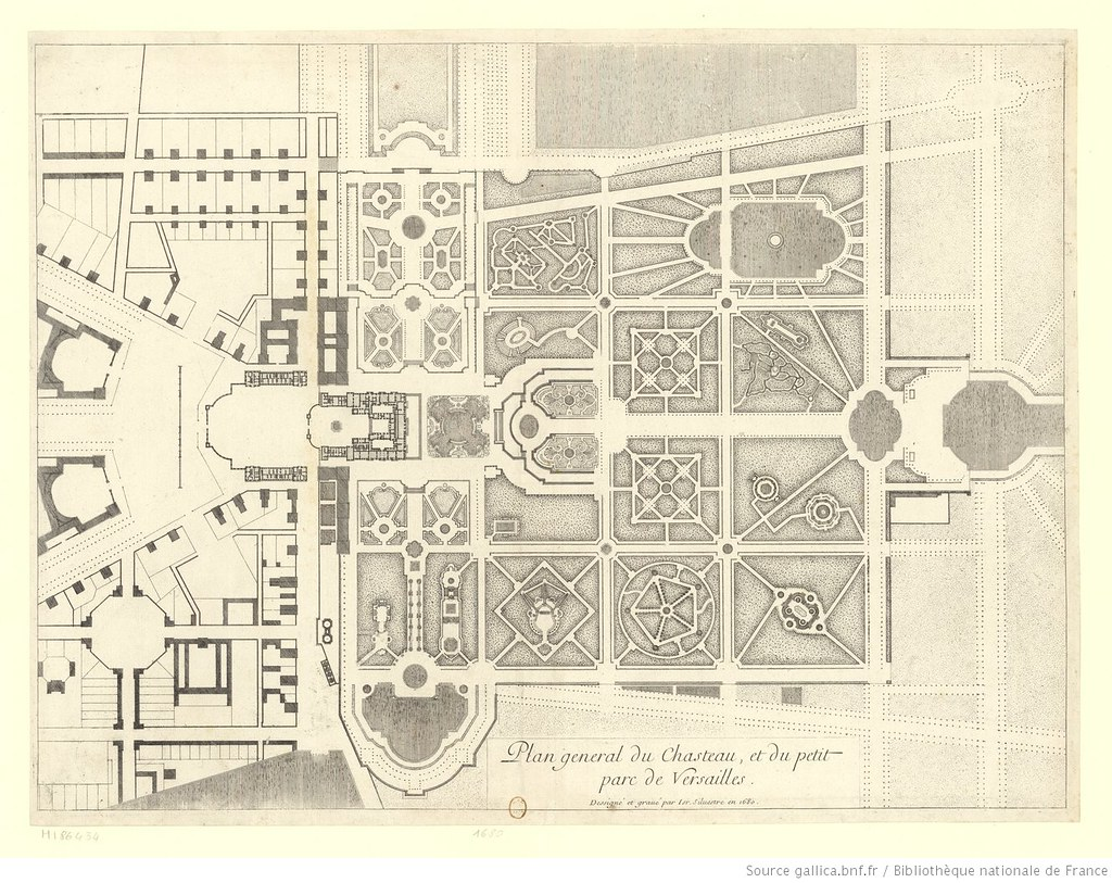 Plan general du Chasteau, et du petit parc de Versailles